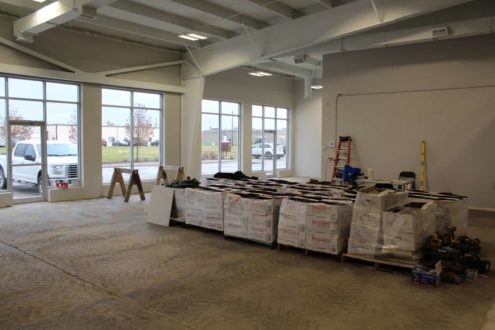 showroom granite installation