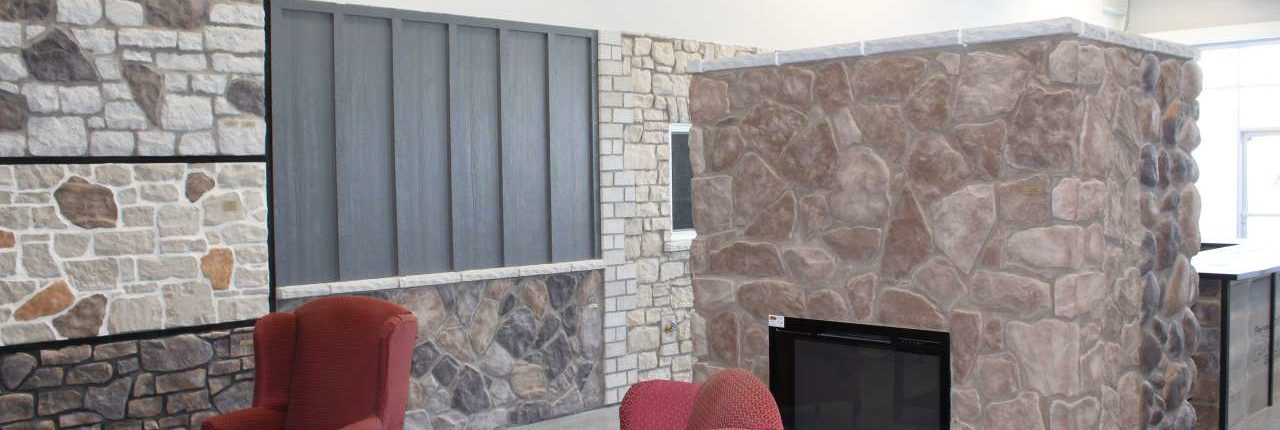 showroom granite installation